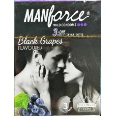 Manforce Black Grapes  Flavoured  Condoms of 3 condoms