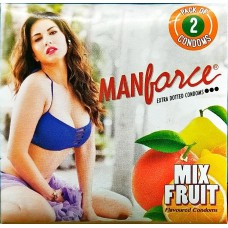 Manforce Mix Fruit Flavoured  Condoms of 2 condoms