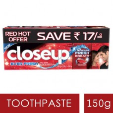 Close Up Ever Fresh Red Hot Gel Toothpaste Value Saver 150 gm  (Pack of 2)